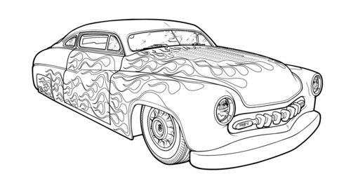 Hot Rod Low Style Coloring Cars