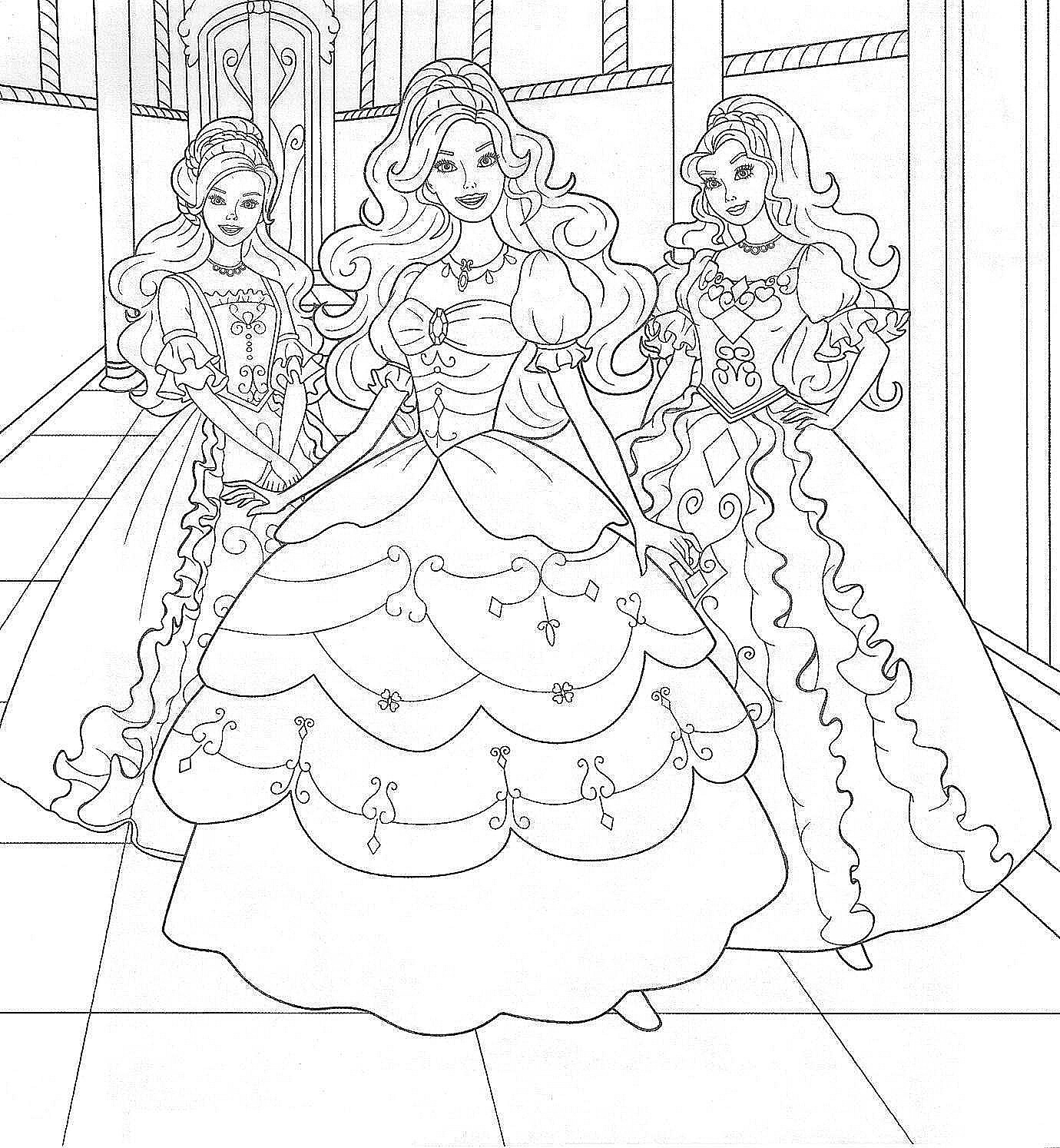 Two Friends Coloring Pages Barbie Coloring Pictures