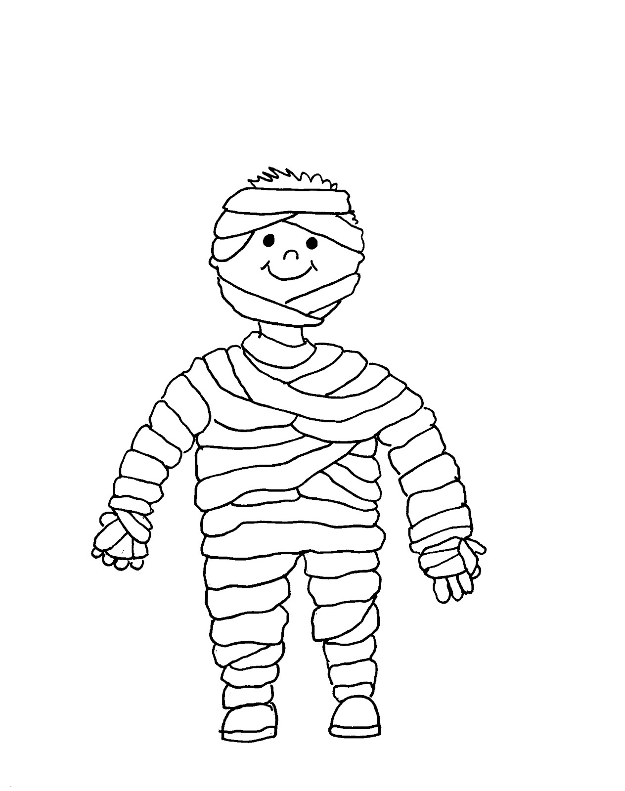 Cute Mummy Print Coloring Pages Free Printable Coloring