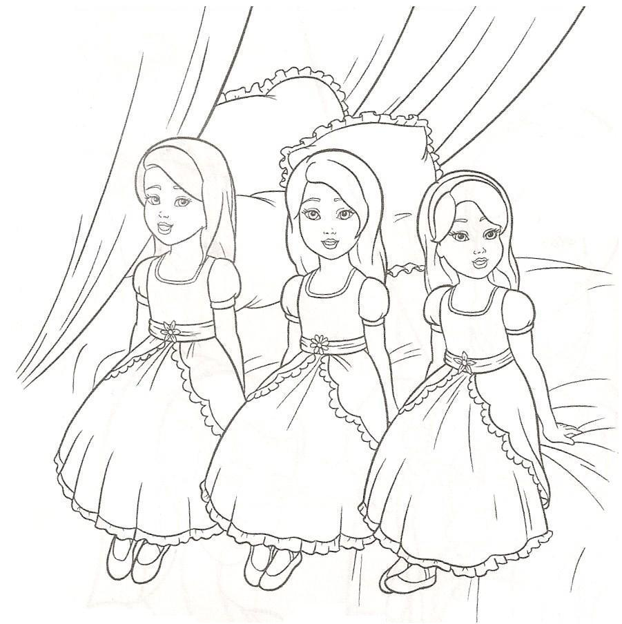 Sisters Barbie Coloring Pages Barbie Coloring Pictures