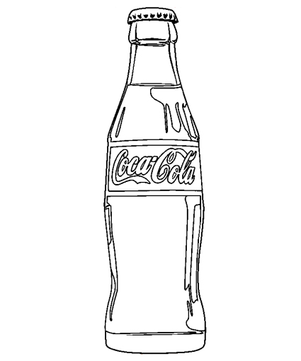 Coca Cola Bottle Coloring Pages Free Printable Coloring