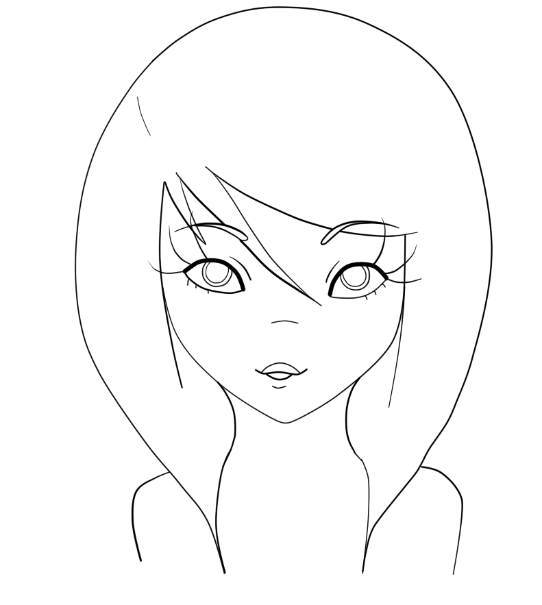 Perfect Girl Eyes Coloring Pages for Kids Free Printable