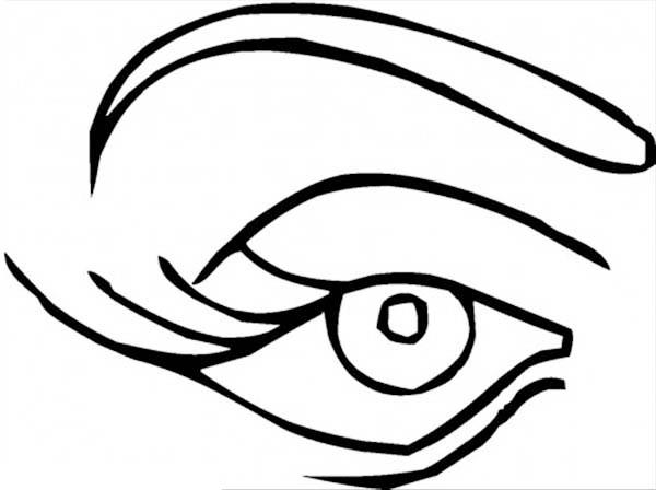 Women Eye Preschool Coloring Pages for Kids Free Printable