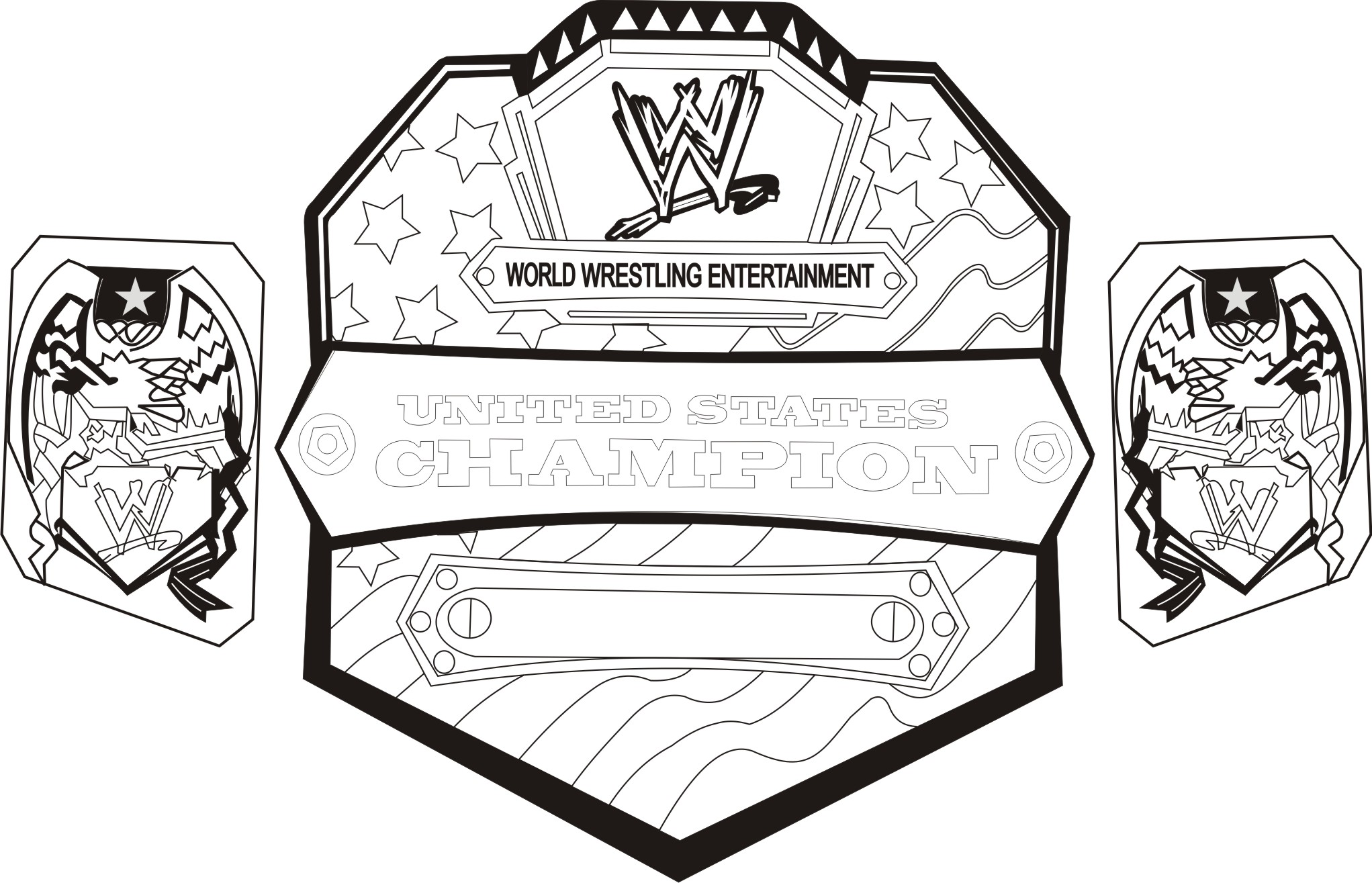 Wwe Belt Coloring Pages For Kids Free Printable Coloring