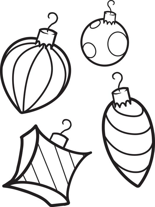 4 Christmas Decoration Coloring Pages Free Printable