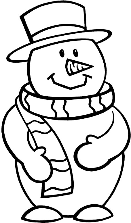 Images Snowman Print Coloring Pages For Kids Free