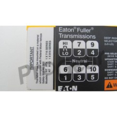 Air Shift 13 Speed Diagram Mopar Ecu Wiring Fuller 8 Transmission Free For You Eaton 15 Pattern 20468