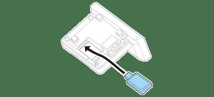 Підключення модуля бездротової локальної мережі принтера