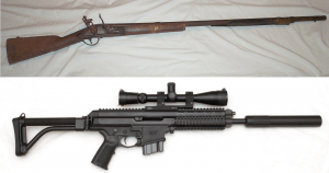 18th vs 21st Century guns