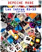 Depeche Mode. Las letras 81-13 - Martin L. Gore, Dave Gahan, Alan Wilder portada