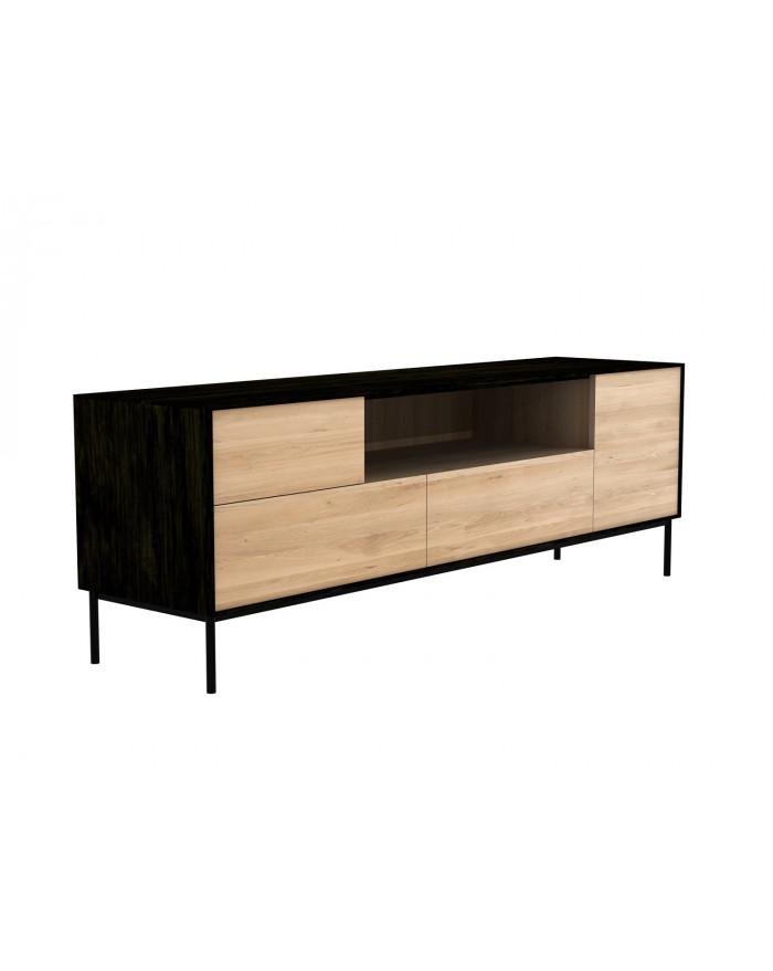 meuble tv blackbird en chene 1 portes 2 tiroirs 180 d ethnicraft