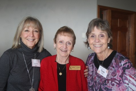 More smiles from Carolyn Hein, Terry Noble and Joan Devlin