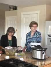 Susan Watson and Betsy Hase listen to recipe discussion