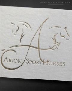Minimalist Sporthorse Monogram Logo Designed for Variable Use