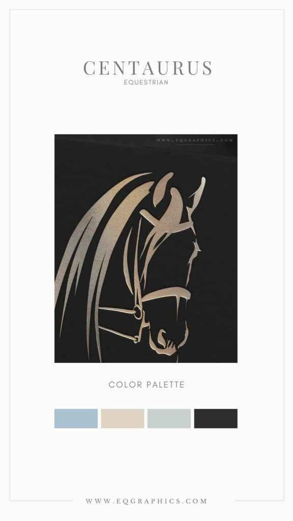 Elevate Your Equine Branding with A Custom Logo Design Like This Powerful Friesian