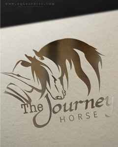 Bond Between Horse and Human Comes to Life in Stunning Western Friesian Horse Logo
