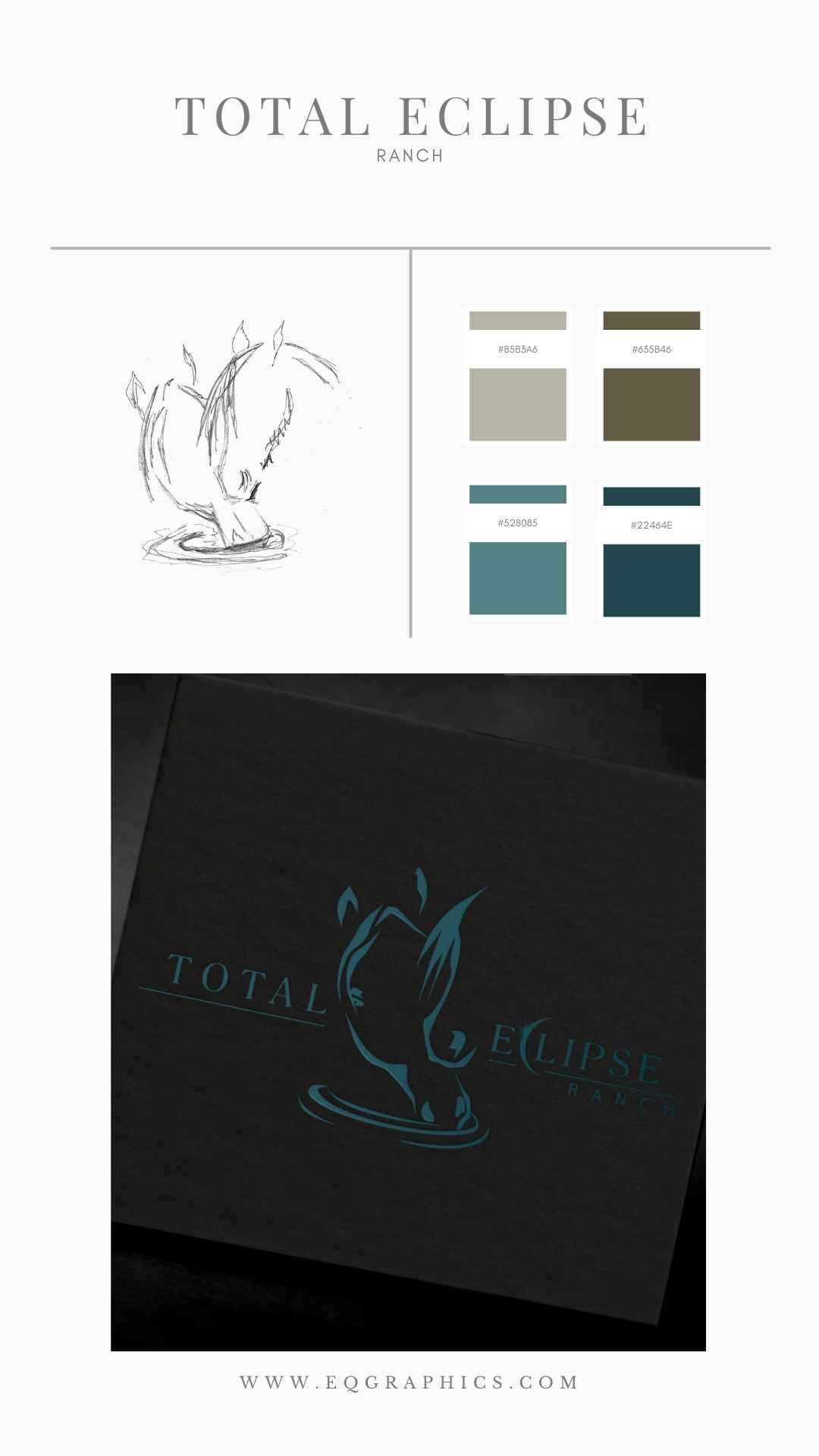 Texas Ranch Logo for Equine Retirement Center Contains Gorgeous Personal Branding