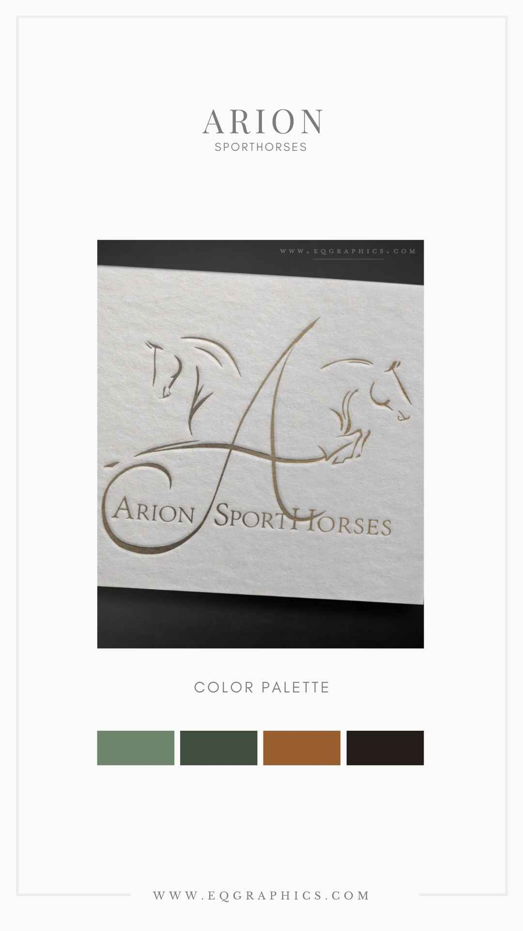 Minimalist Logo Features Abstract Sporthorse Design That's Stunningly Realistic