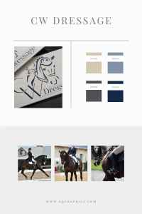 Dressage Horse Trainer's Custom Logo Inspired by Ultimate Connection
