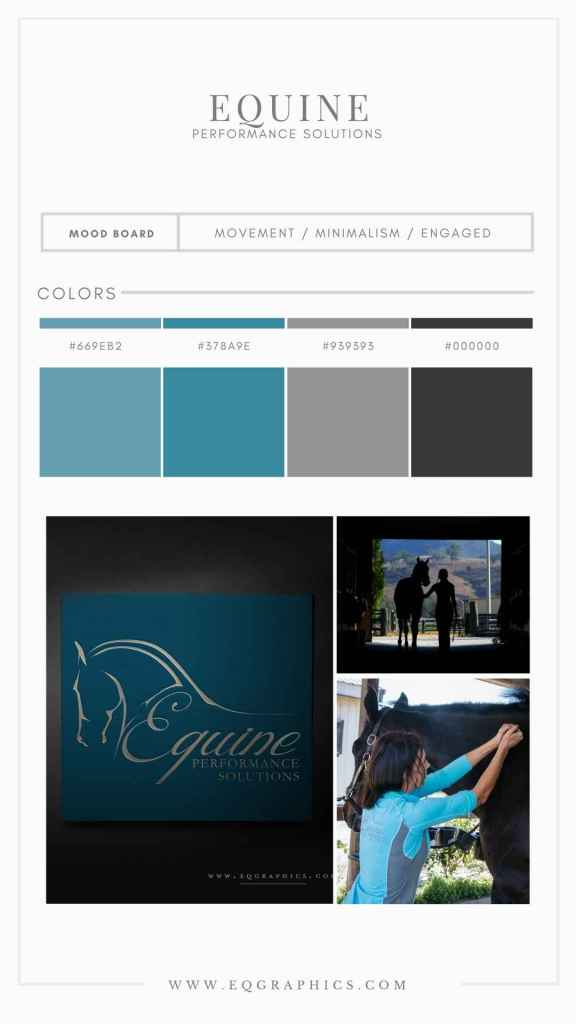 Stunning Equine Massage Therapy Logo in Serene Blue