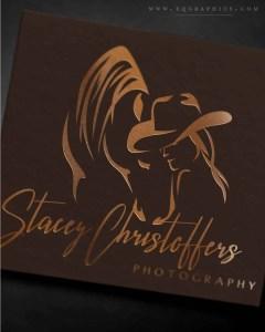 Photographer's Love for Capturing Horse & Human Bond Illustrated in Custom Logo