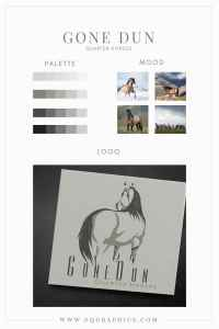 Hand Drawn Grulla Horse Logo Turns Heads On Ranch Signs