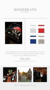American Flag Inspired Patriotic Logo for Equine Assisted Therapy Center