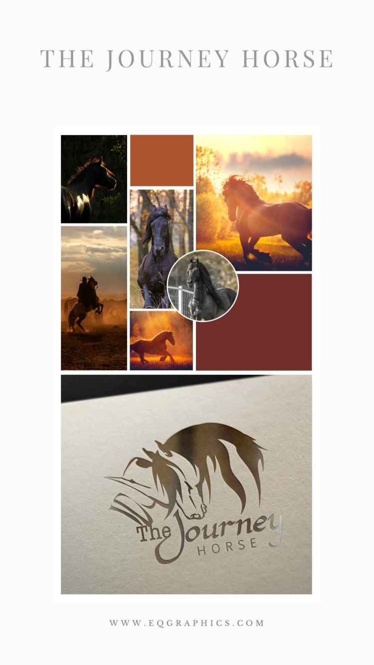 Sunset Horse Mood Board Pairs Fabulously With Western Friesian Horse Logo