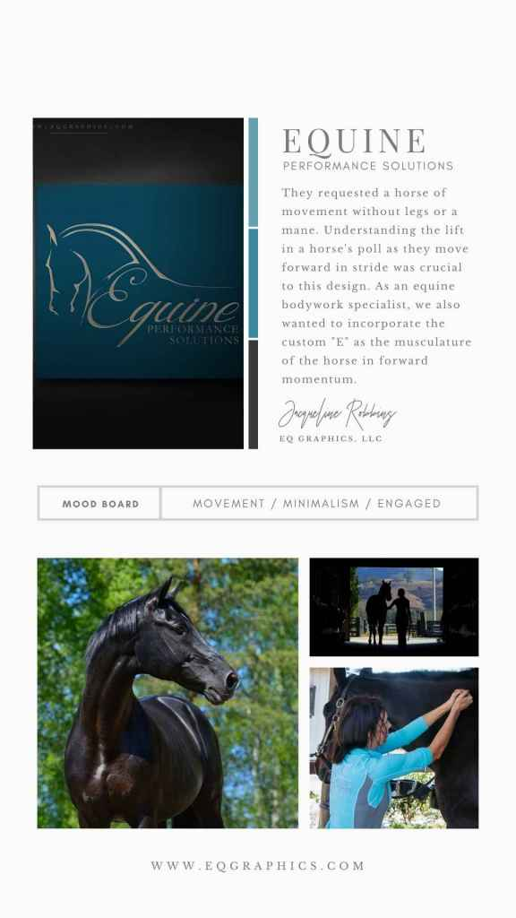 Line Art Equine Massage Therapy Logo Draws Eyes to Branded Items at WEC
