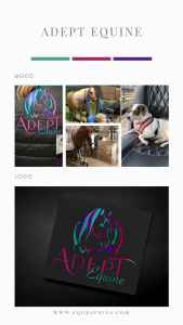 Playful Equine Massage Therapy Logo Featuring Colorful Horse
