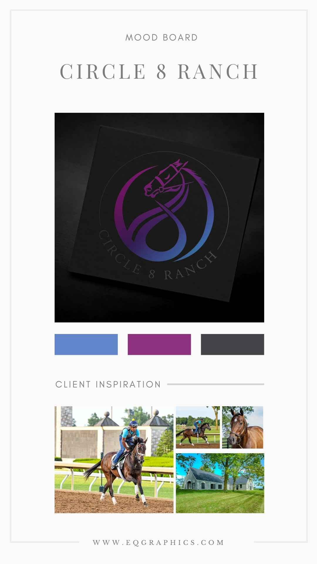 Stand Out From Paddock to Winner's Circle With an Original Hand Drawn Racehorse Logo