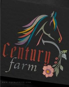 Folk Art Style Gaited Horse Logo for Dutch Hex Sign Enthusiast