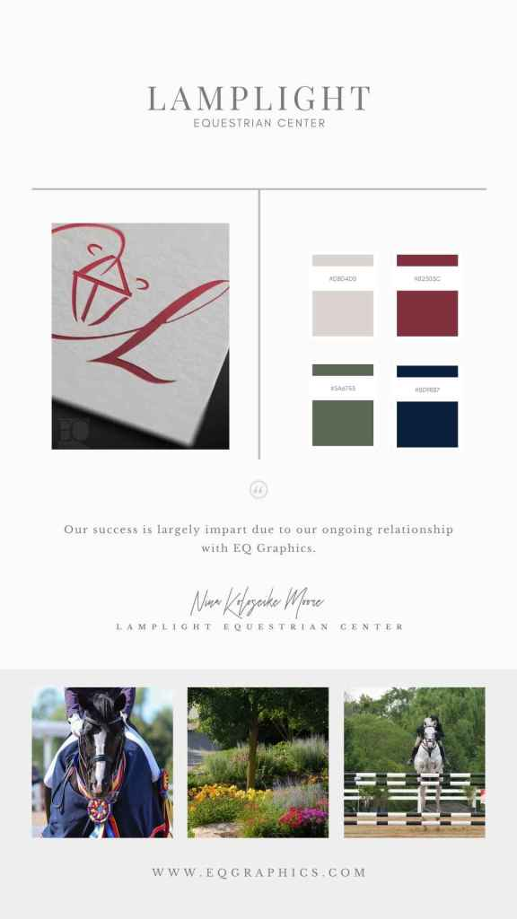 Sophisticated Custom Logo for Stunning Horse Show Facility with Picturesque Grounds