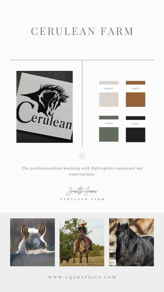 EQ Graphics | Breeder Logo Branding - Horse Photography Inspiration And Color Swatches