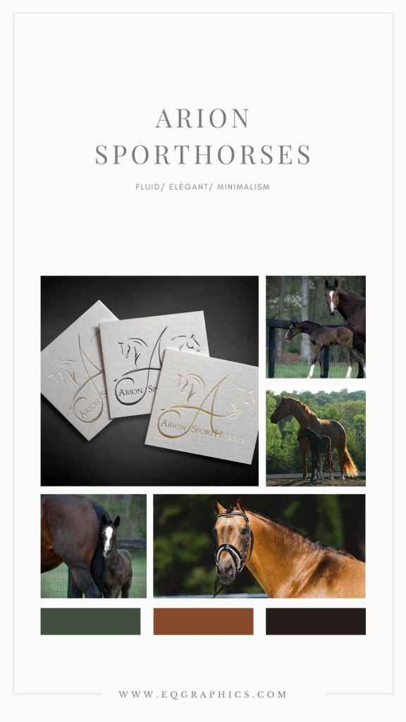 Letter A Monogram Meets Sporthorse Style in this Minimalist Logo Design