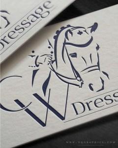 Lifelike Elegant Logo for Dressage Horse Trainer