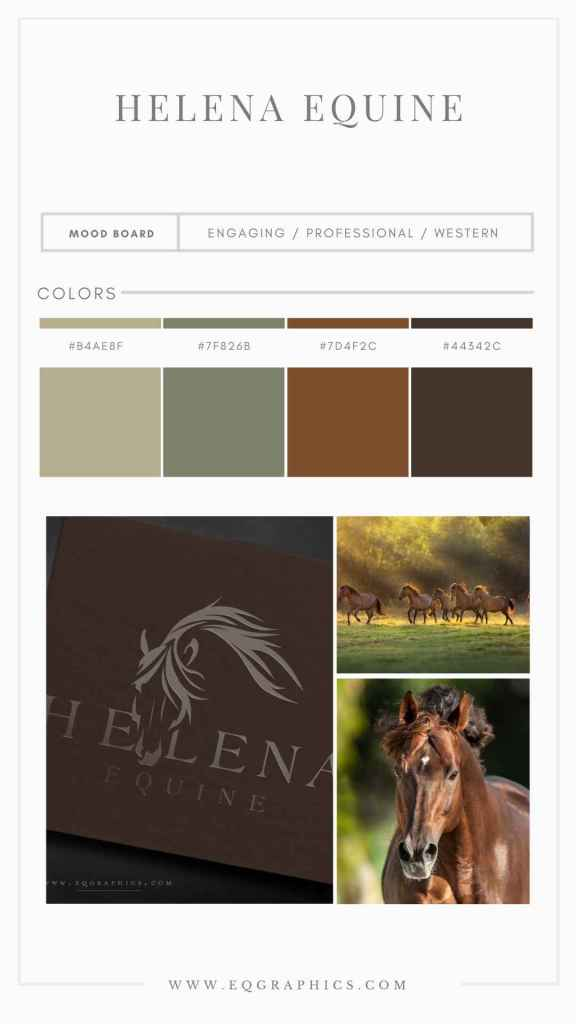 Bronze Palette Gives Flair to Hand Drawn Cow Horse Logo