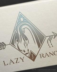 Native Style Horse & Arrow Logo Design Embodies Ranch's Brand Inspiration