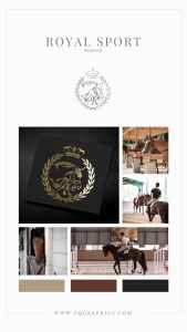Hand Drawn Show Jumper Logo Spells Professional for Horse Trainer