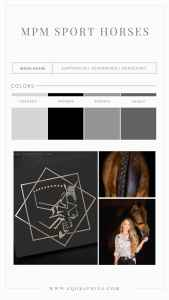 Shades of Grey Color Palette for Dapple Bay Inspired Geometric Sporthorse Logo