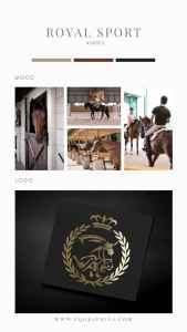 """A Show Jumping Facility Logo That Says """"Luxury"""""""