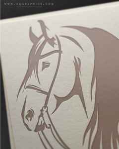 Majestic Friesian Silhouette is Stunningly Realistic in This Custom Logo Design