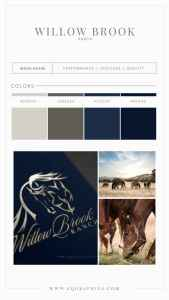 Subdued Color Palette Pairs With Reining Horse Logo for Professional Look
