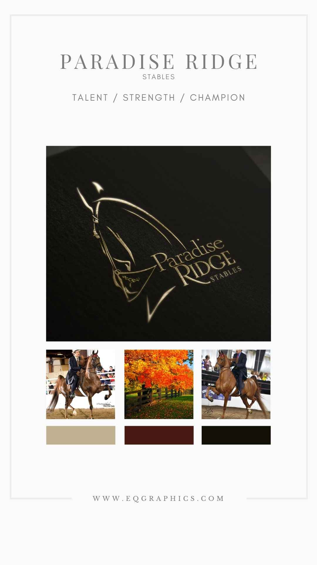 American Saddlebred Horse Art Comes to Life in Hand Drawn Logo