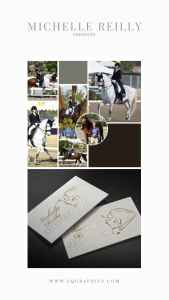 Modern Chic Logo Design for Dressage Trainer With Hand Lettered Calligraphy