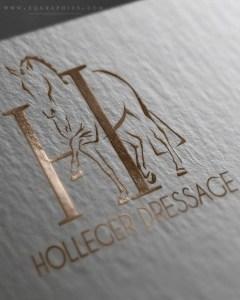 Professional Dressage Trainer's Hand Drawn Rose Gold Custom Logo