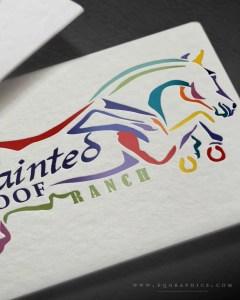 Scopey Jumping Horse Draws Eyes to Custom Logo Design at Colorado Horse Park
