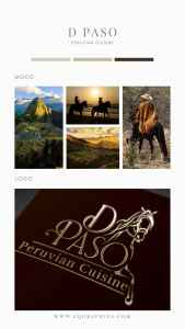 Restaurant Owner's Love of Peruvian Paso Horse Incorporated Into Elegant Business Logo