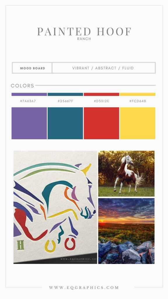 Show Jumping Aesthetic Meets Colorful Branding With Breeder's Custom Logo