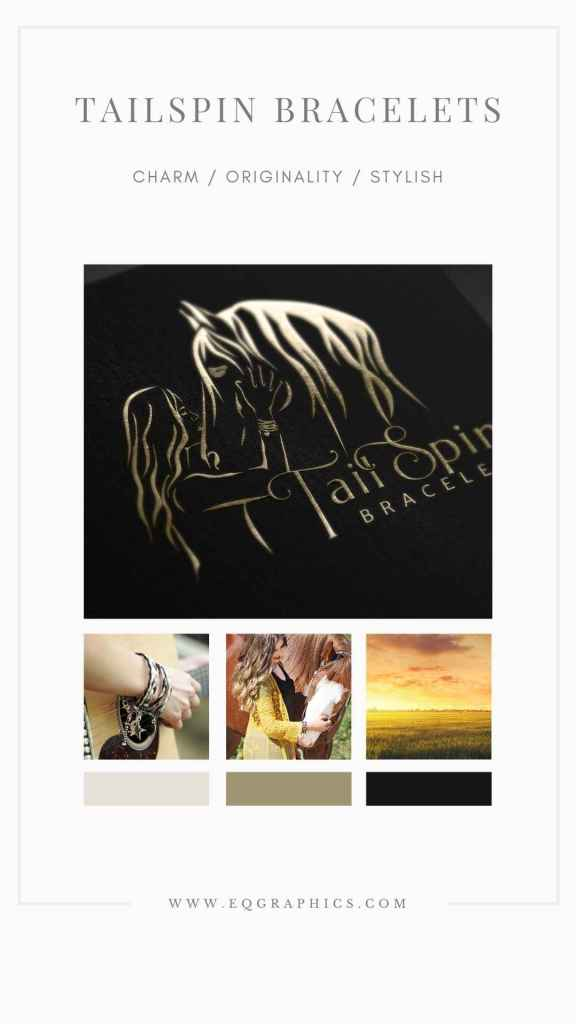 Pin This Stunning Equine Bond Themed Logo for Your Horse Hair Jewelry Inspo